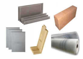 Materials for building a fireplace