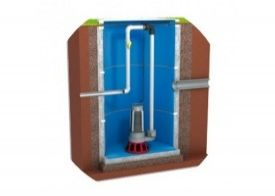 Sewerage, sumps, treatment plant