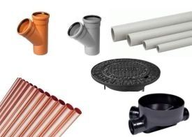 Pipes, waste, shafts, hatches