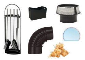 Accessories - pipes, reducers, glass, cleaners