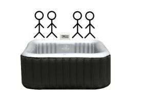 Mobile whirlpools for 4 persons