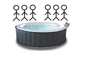 Mobile whirlpools for 6 persons