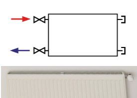 KLASIK radiators with lateral connection